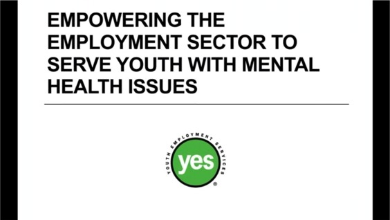 Empowering The Employment Sector To Serve Youth With Mental Health Issues