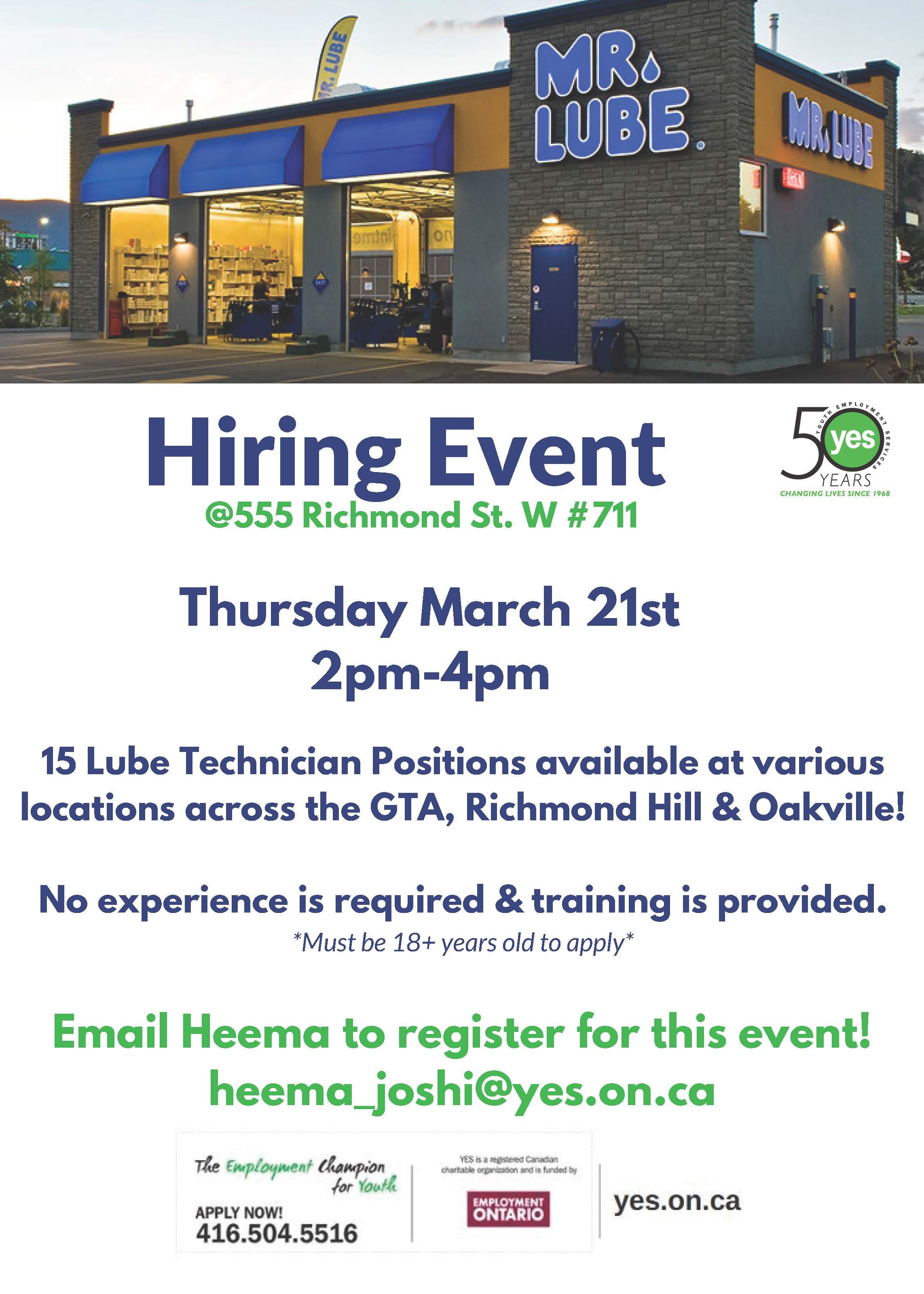 Mr.Lube Hiring Event