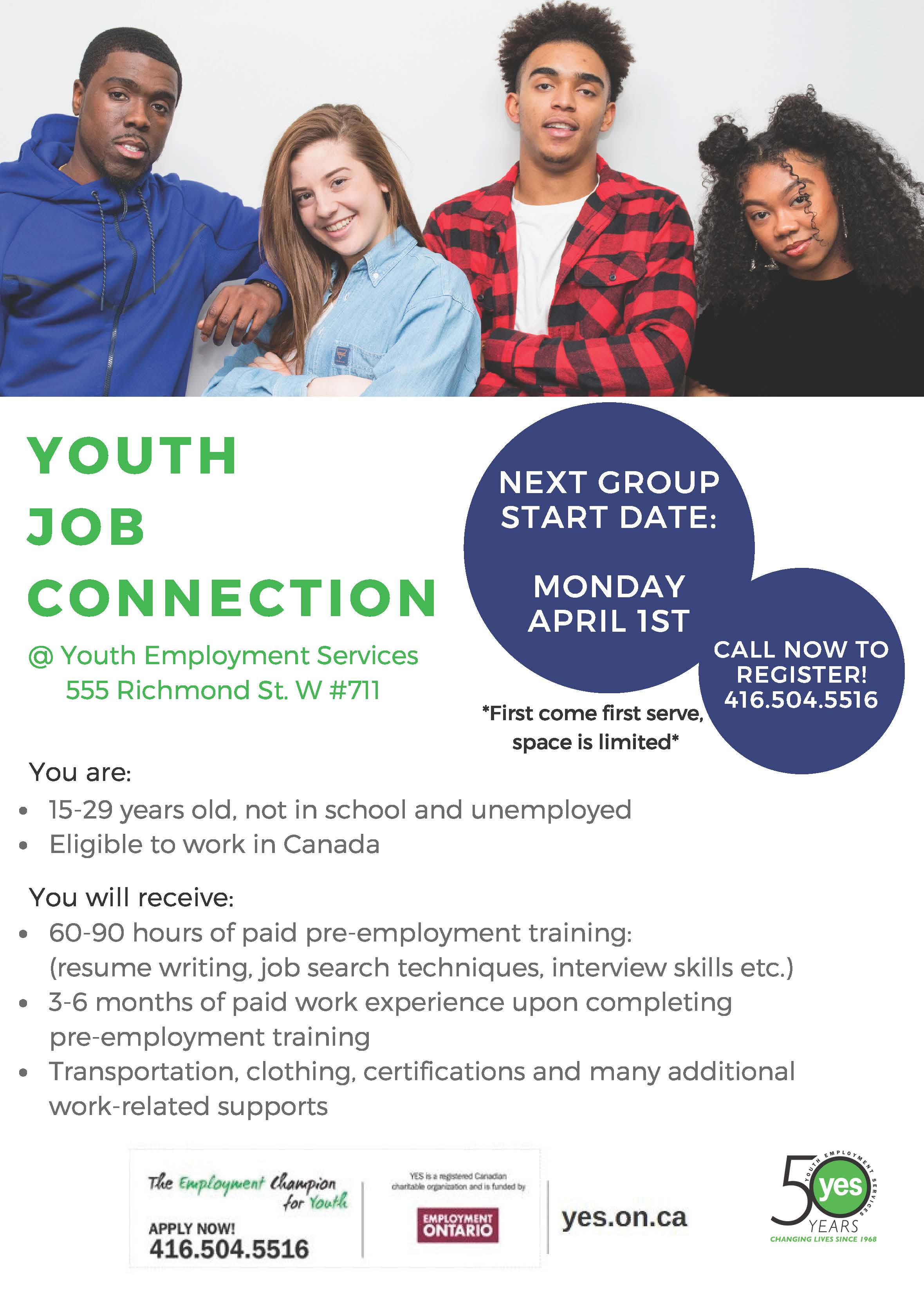 Youth Job Connection Youth Employment Services Yes
