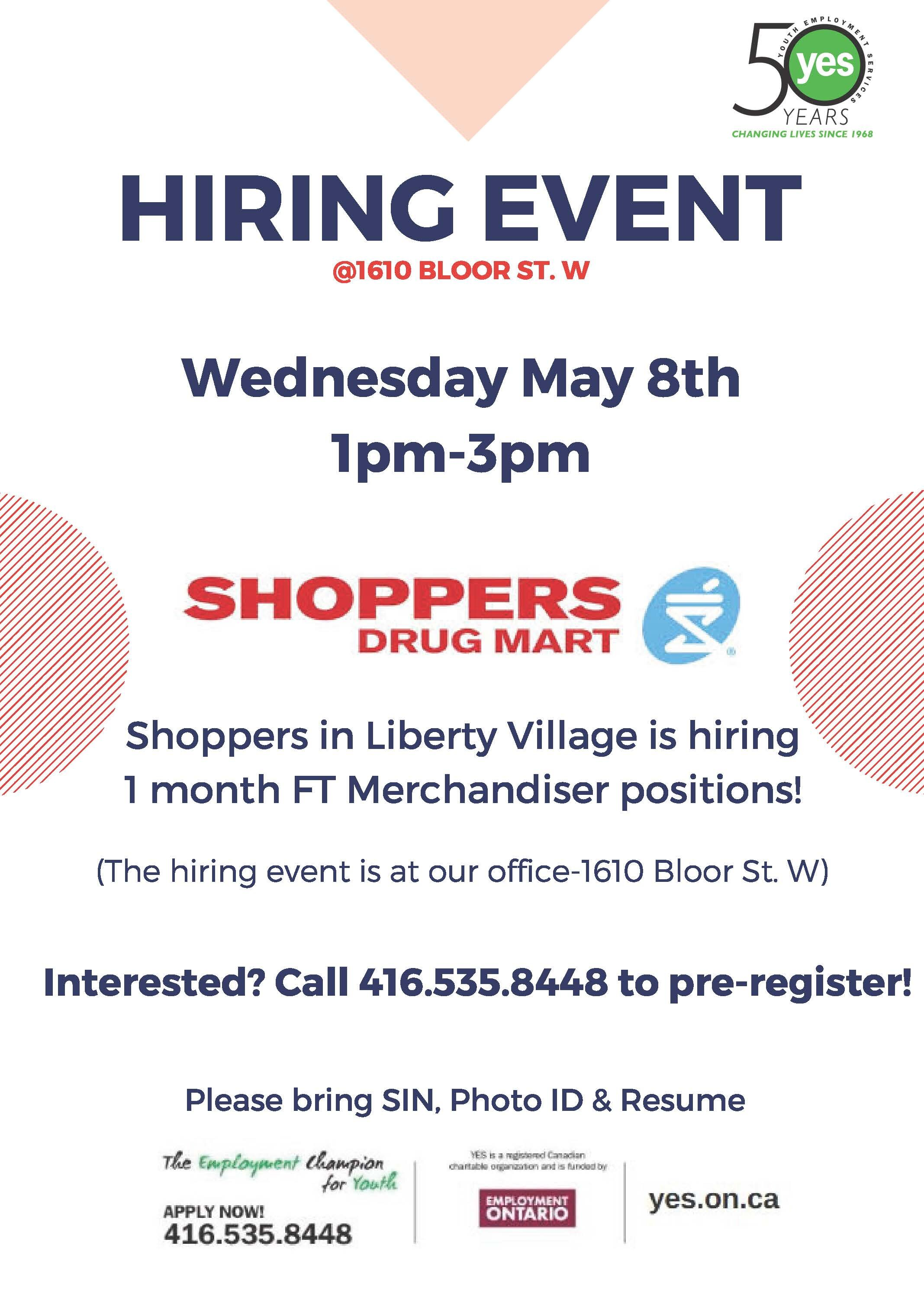 Shoppers Drug Mart Hiring Event