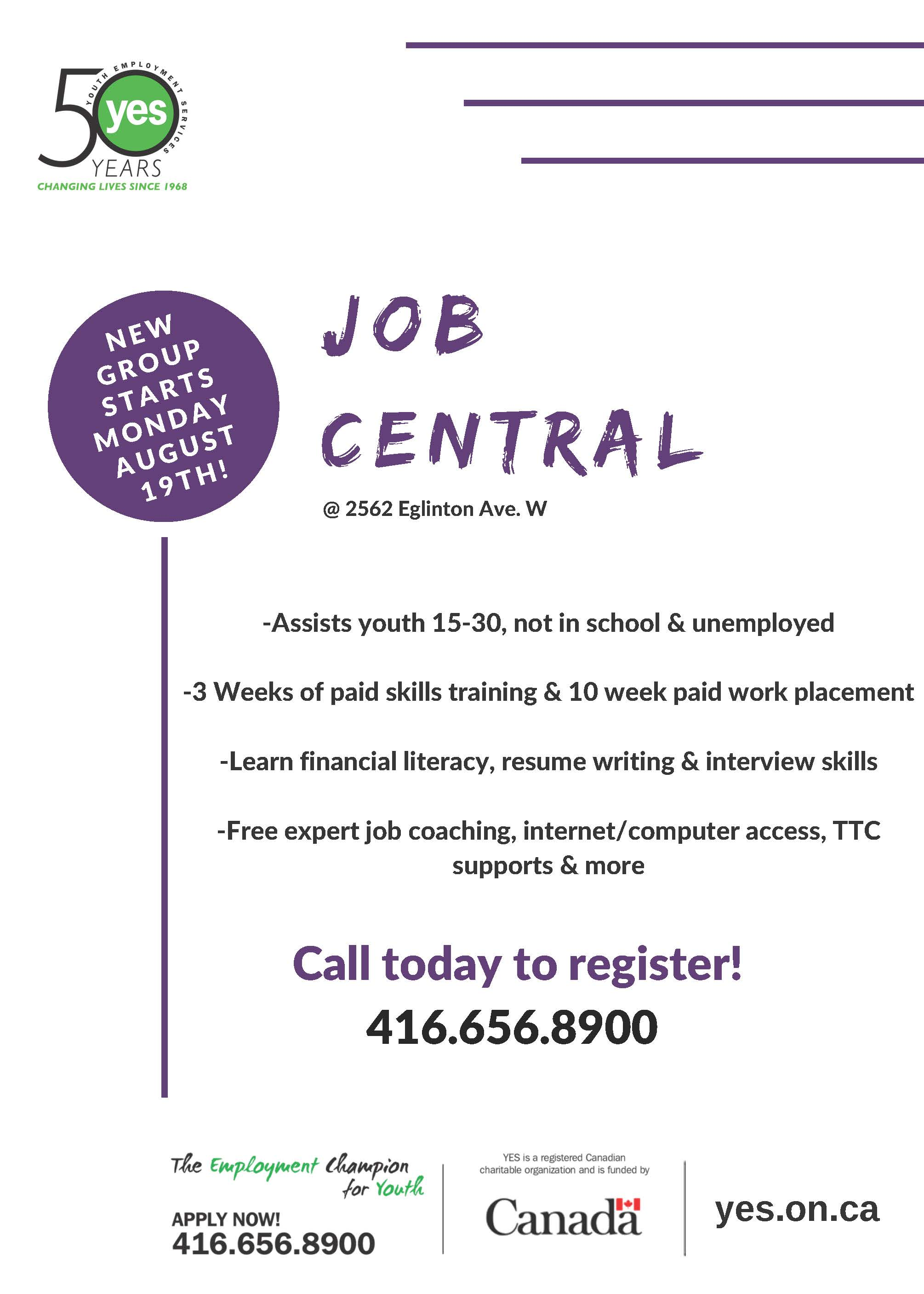 Job Central @ YES-Youth Job Centre