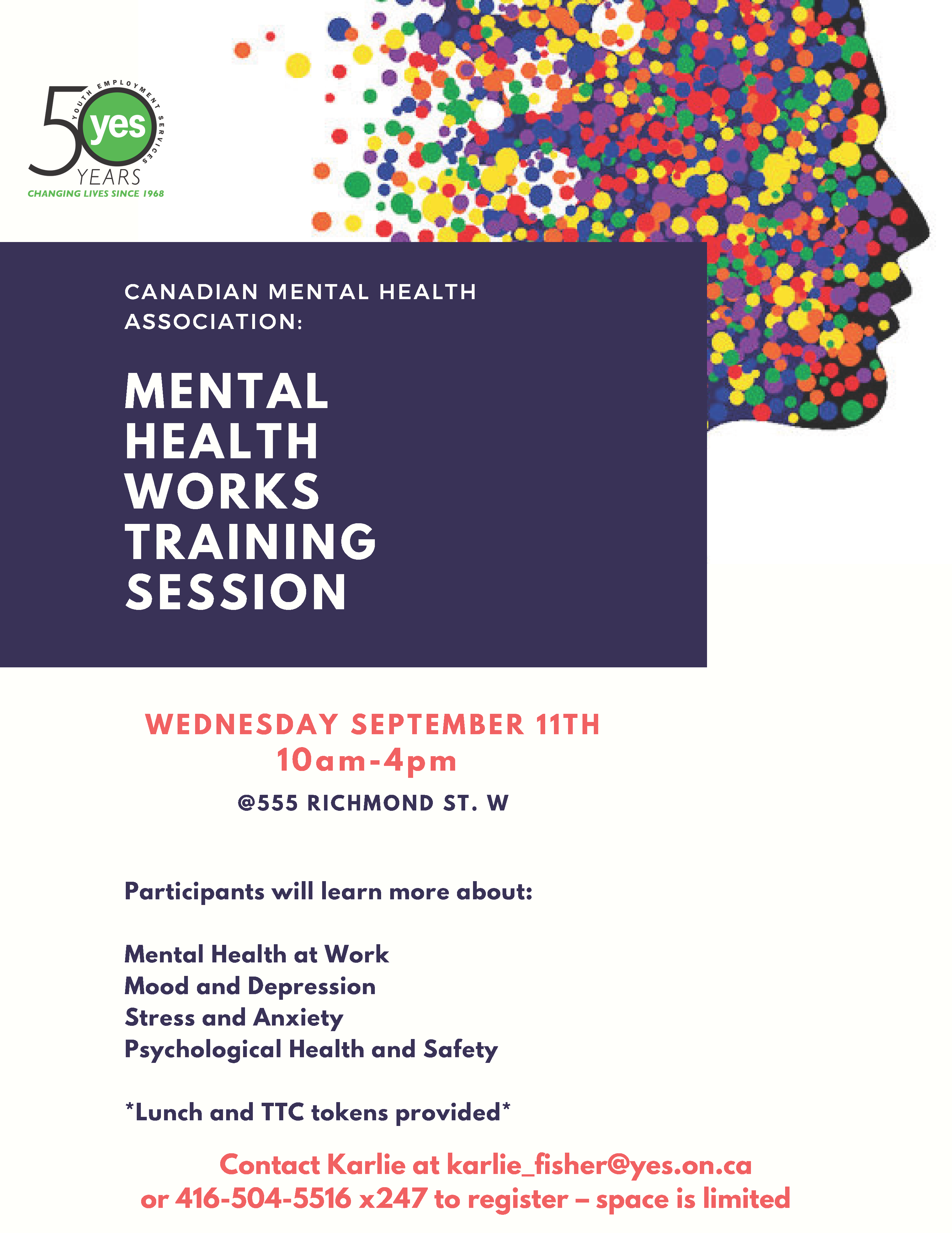Mental Health Works Training Session @ YES