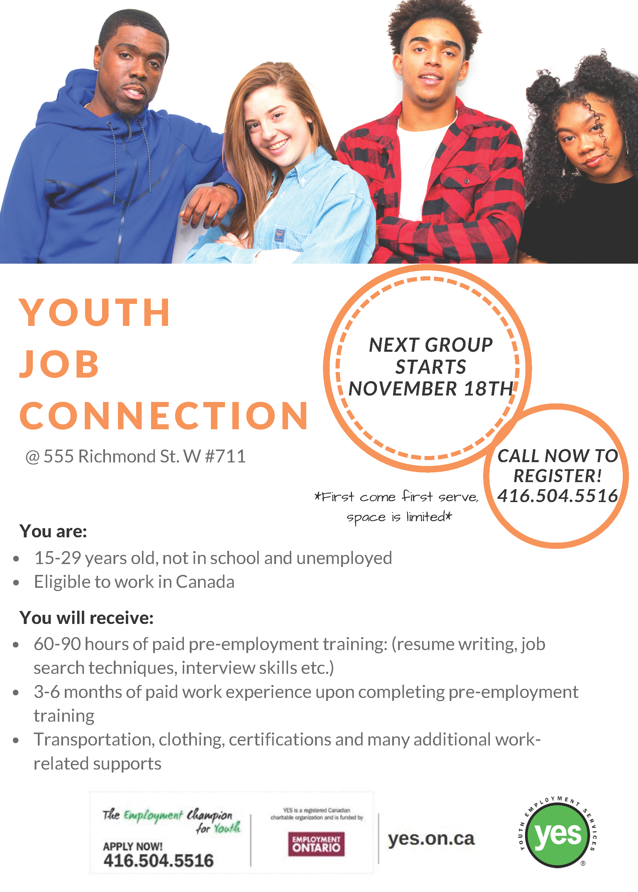 Youth Job Connection @ 555 Richmond St. W #711