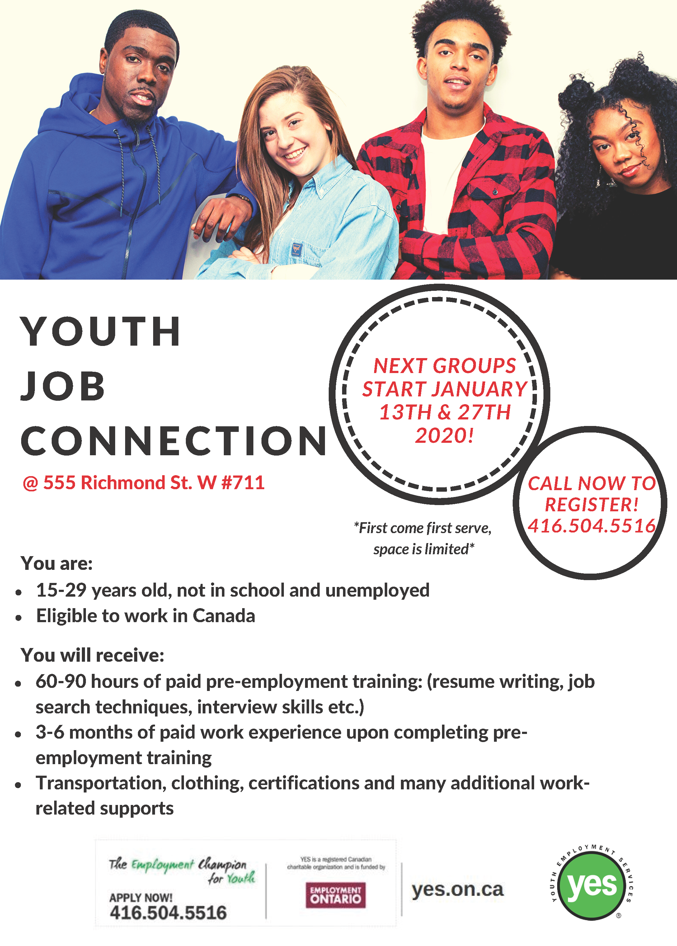 Youth Job Connection @ Youth Employment Services