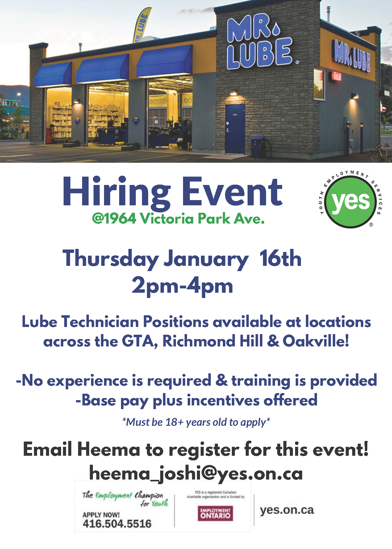 Mr.Lube Hiring Event @ Mr.Lube