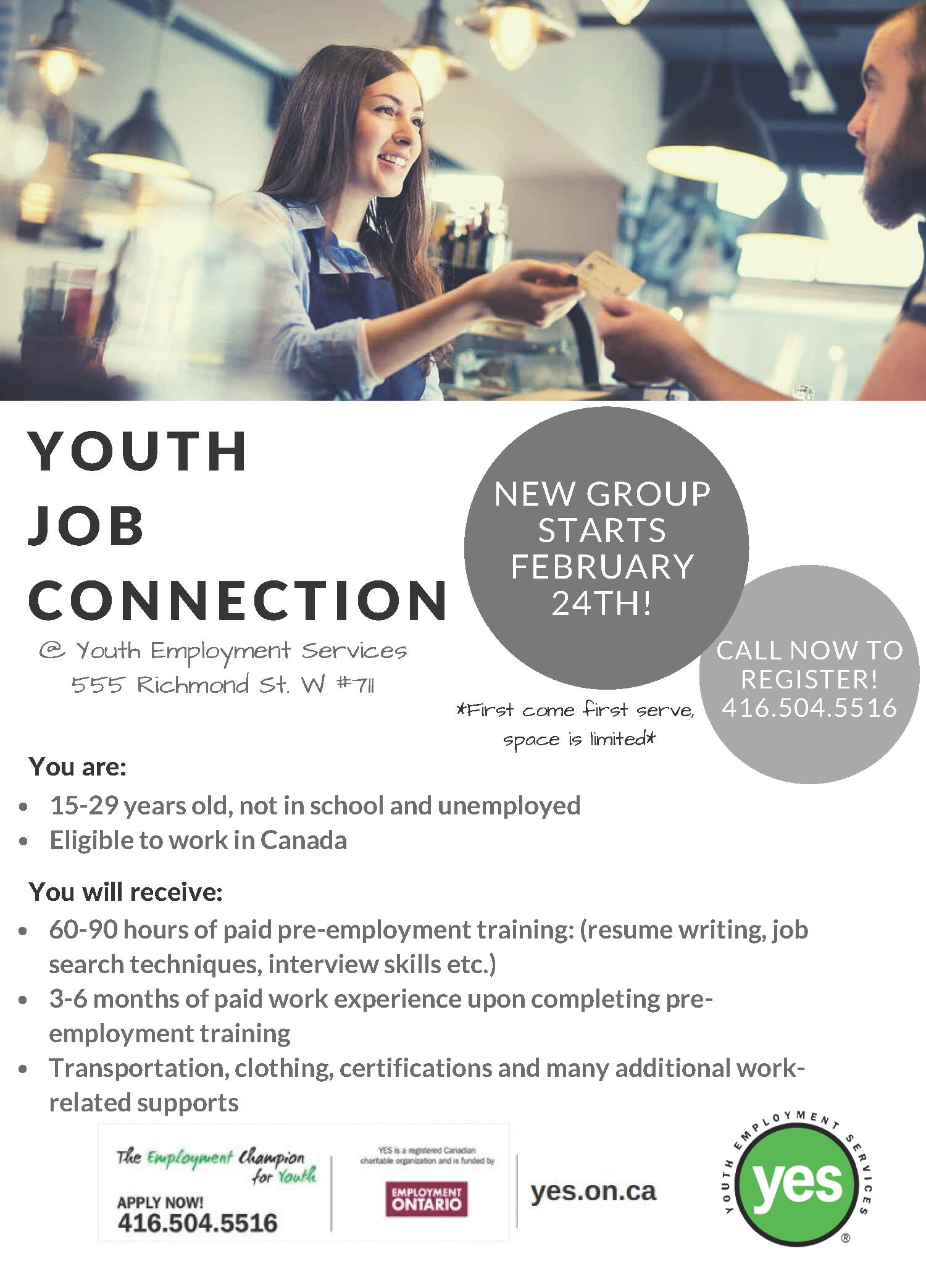 Youth Job Connection February 24th Youth Employment Services Yes