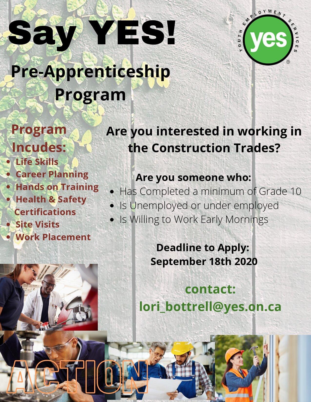 Pre-Apprenticeship Construction Trades