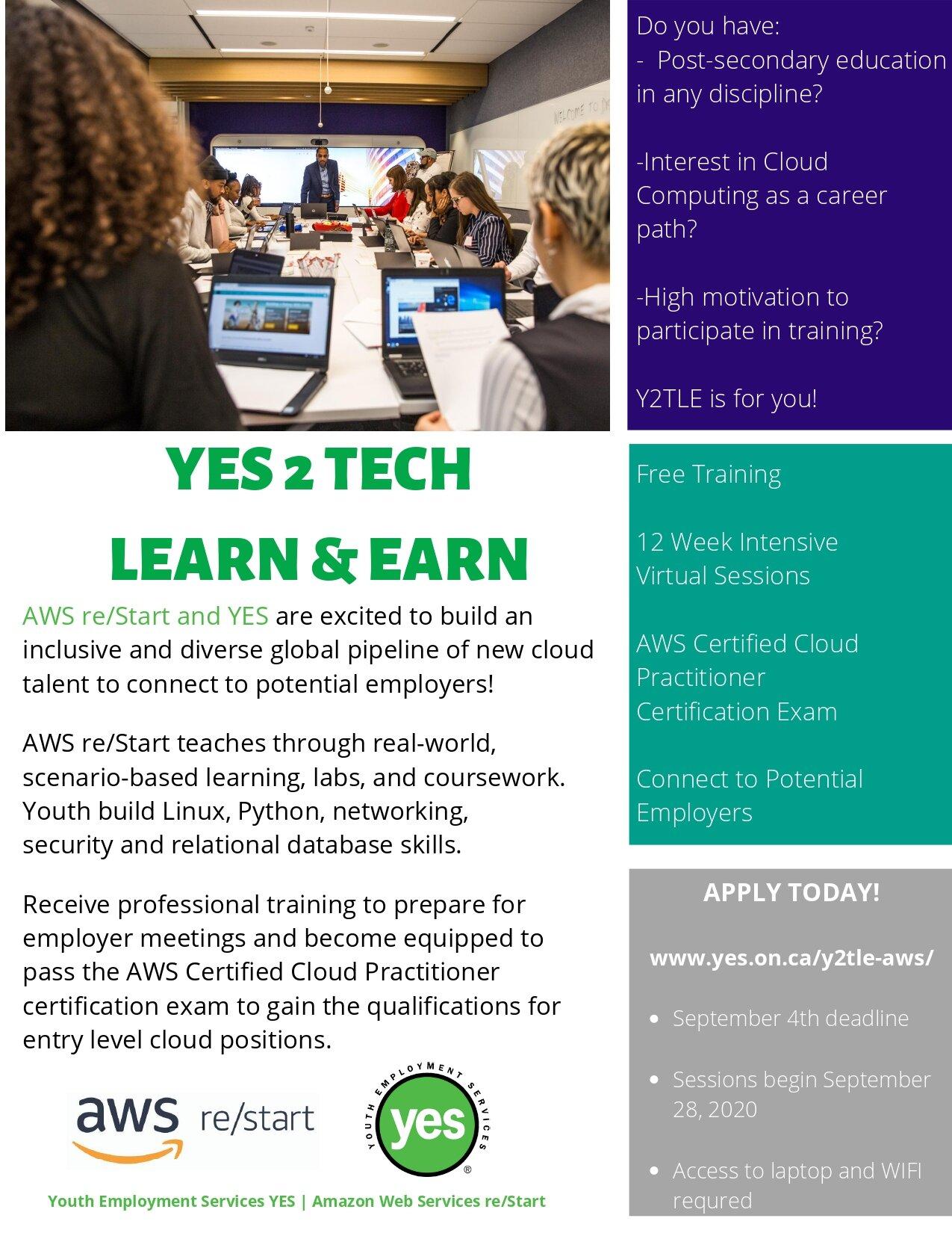 YES2Tech Learn & Earn