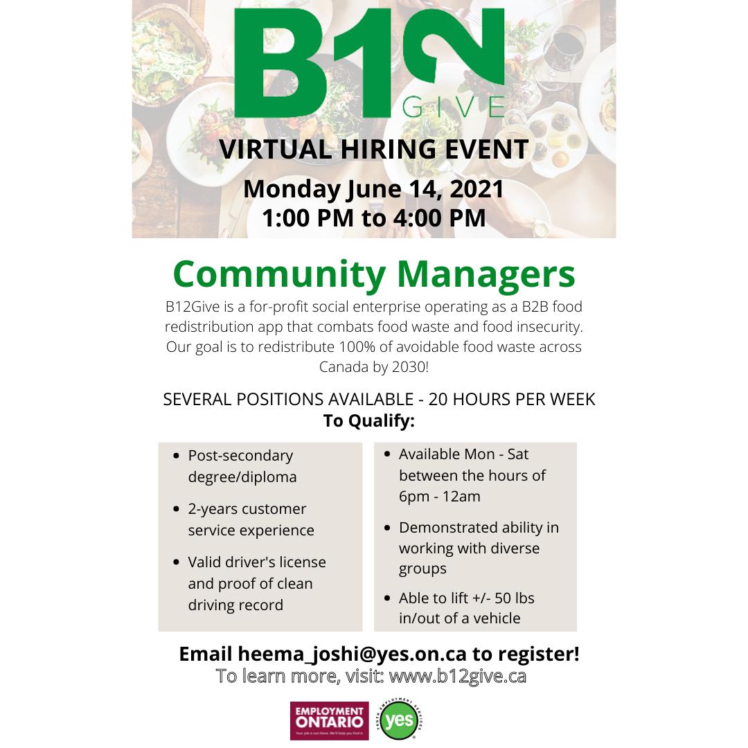 B12Give virtual hiring event @ Virtual Hiring Event
